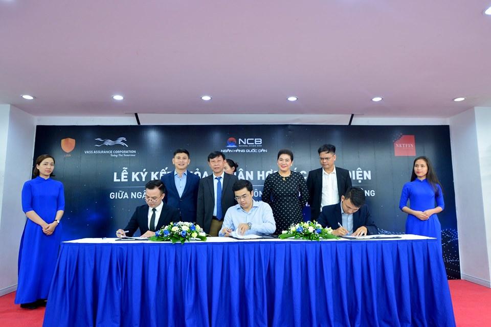 (Báo Nhịp sống kinh doanh) Lễ ký kết thỏa thuận hợp tác ba bên giữa NCB, VASS và Netfin Việt Nam